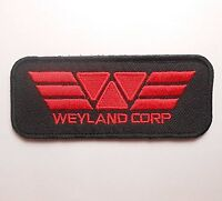 Alien V.s Predator Weyland Corp Red And Black Logo Iron/sew-on Embroidered Patch
