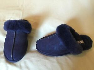 4ac645cd2f0 Details about NEW AUTHENTIC UGG SCUFFETTE II LUSTER SZ 6 SLIPPERS PEACOAT  NAVY BLUE NWOB