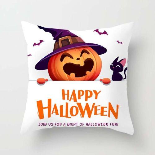 Halloween Square Pumpkin Pillow Case Waist Throw Cushion Cover Sofa Home Decor