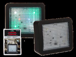 2 x TV Attrappe  Simulator Einbruchsschutz Dummy Fake Fernseher Abschreckung