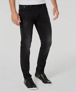 120 Jeans Guess Para Hombre 34w 30l Negro Informal Slim Fit Mediados De Subida Jeans Pantalones Conicos Ebay