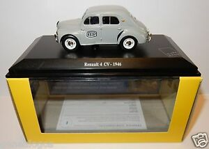 NOREV-RENAULT-4CV-4-CV-1946-GRISE-POSTES-POSTE-PTT-1-43-IN-LUXE-BOX