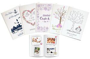 Personalizzato Libro Degli Ospiti Per Matrimonio Individuale Diversi Motivi
