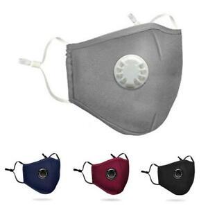3 Lagige Filter Masken Staubschutzmaske Atemschutzmaske Mundschutz  + 2X Filter