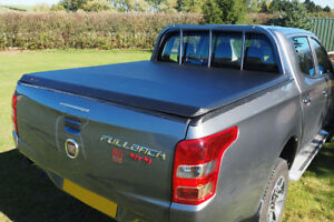 Fiat Full Back Soft Roll Up Tonneau Bed Cover Fits With Ladder Rack Sx Model D C Ebay