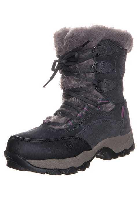 Hi-Tec St Moritz 200  II Womens Waterproof Winter Hiking Boots Charcoal