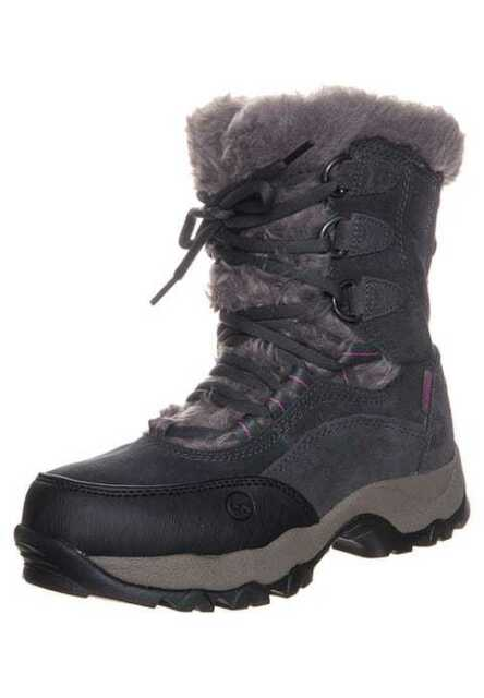 Hi-Tec St Moritz 200 II Womens Waterproof Winter Hiking Boots Charcoal 6121467c8