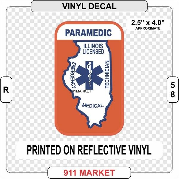 R 60 New York EMT Reflective Vinyl Decal NY Emergency Patch Sticker Emergency