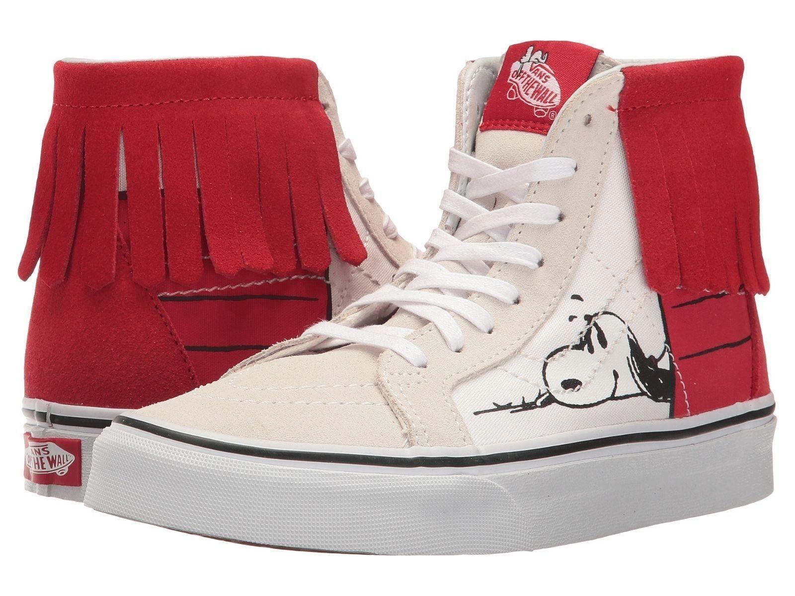 Vans PEANUTS Bone Snoopy Dog House Bone PEANUTS Charlie Braun Sk8 Hi Sbeakers M 5.5  W 7.0 356857