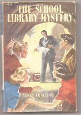 THE SCHOOL LIBRARY MYSTERY Agnes Furlong 1951 H/B D/J Children's Book Girls