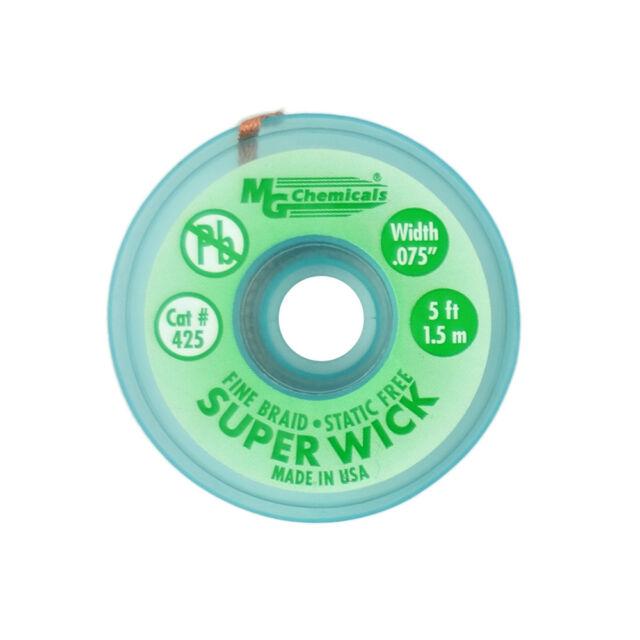 """5/' SOLDER WIK BLUE .1/"""" MG CHEMICALS #426 1.5M SUPER WICK"""