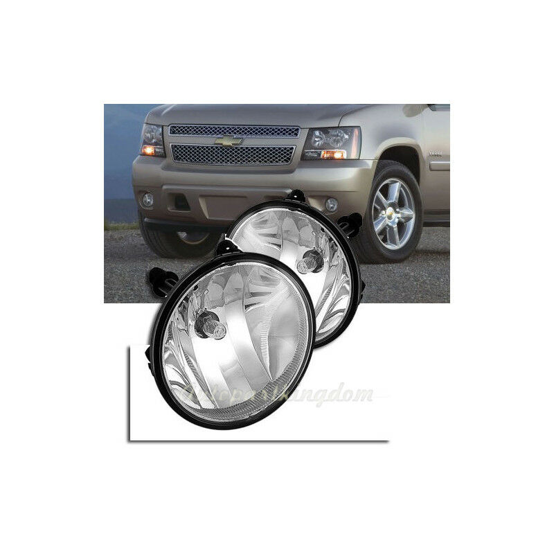 Clear Fog Lights Driving Lamps For 07-13 Chevy Avalanche Suburban Tahoe GMC A7
