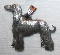 Afghan Hound Dog Harris Fine Pewter Pendant Usa Made