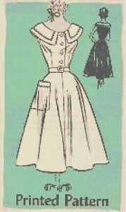Dress-Pattern-Retro-Handmade-DIGITAL-Counted-Cross-Stitch-Pattern-Art-Chart