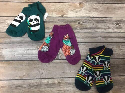 Size 4-10 Women/'s Xhilaration  3 Pairs Low Cut Socks New with tag Panda fox
