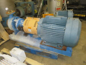 Details about Goulds pump model 3196 MTi size 3x4-10 material Ductile Iron  , with base and mot