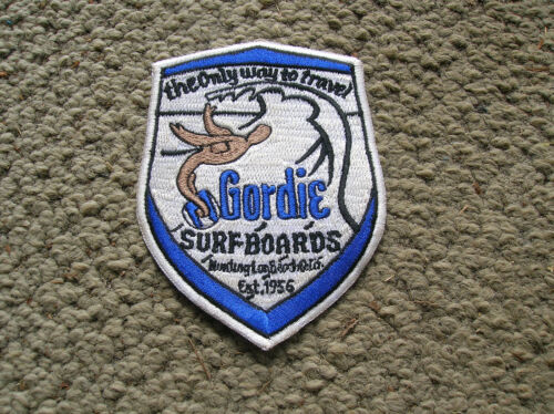 Vintage gordie surfing surfboard jacket patch 1960s longboard surfer huntington