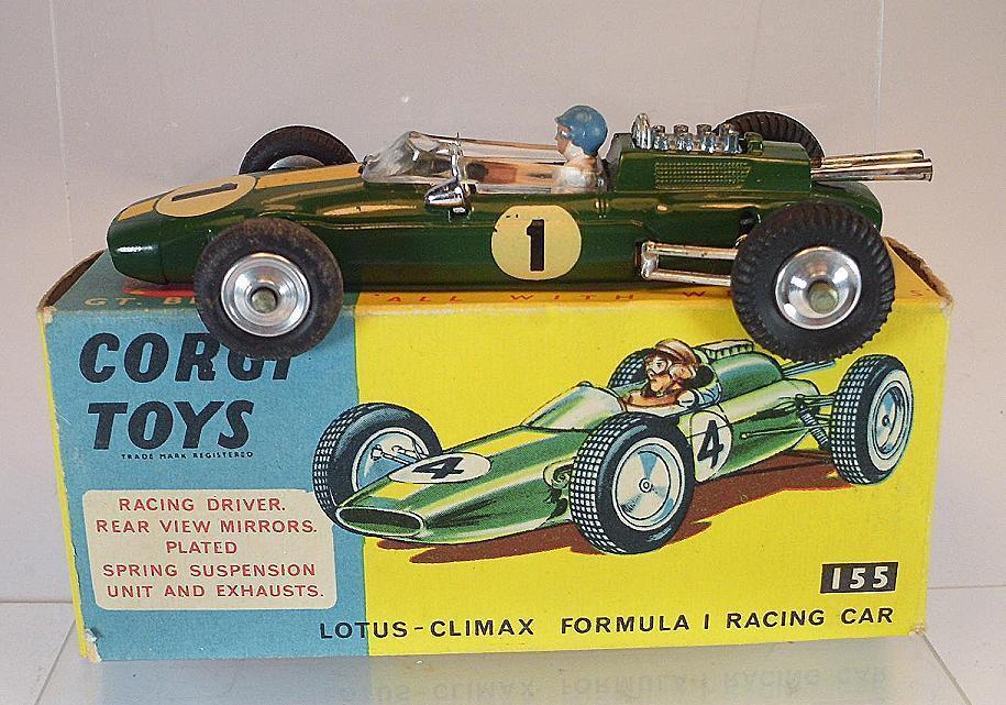 CORGI TOYS 155 LOTUS CLIMAX formula i RACING CAR verde in OVP  5397