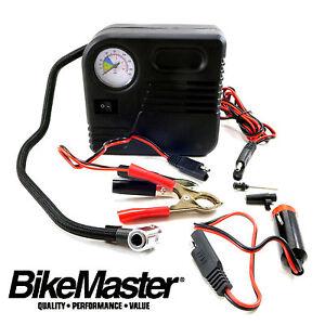 Bikemaster mini air compressor tire inflate repair for Honda air compressor motor parts