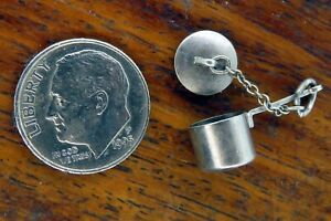 Vintage-silver-MOVABLE-LID-STEW-RICE-CAMPING-POT-COOK-CHEF-charm