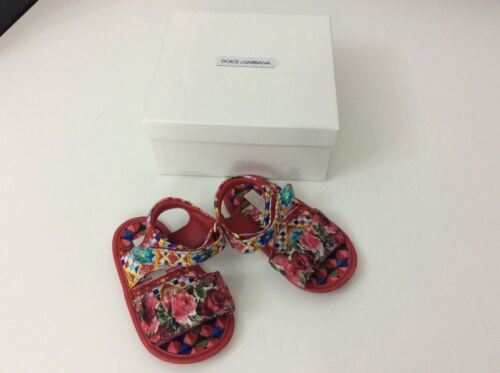 sandales Gabbana 20 D 4 Infant Chaussures Boxed et g Dolce taille Filles Uk Pre Walkers xUYAqSw