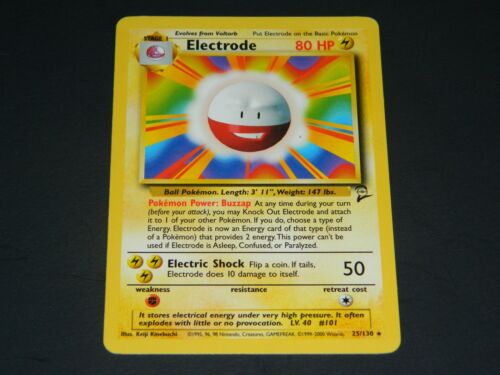 Pokemon Base Set 2 RARE Electrode 25//130 NM//M Condition