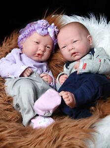 Reborn Baby Twins Boy Girl Preemie Anatomically Correct 14 ...