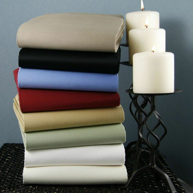 Full Size 3 pc Fitted Sheet Set 1000 TC 100%Egyptian Cotton All Solid colors