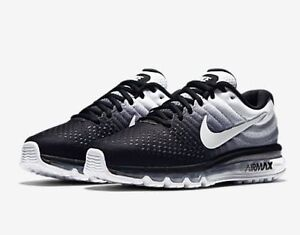 Image is loading Nike-Air-Max-2017-Black-White-Men-Running-