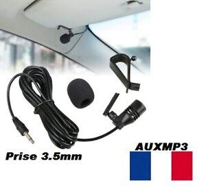 Microphone-Micro-Pour-autoradio-Jack-3-5mm-Sony-Pioneer-Jvc-Alpine-Bluetooth