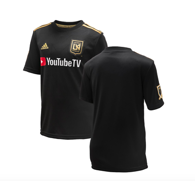 LAFC Youth Adidas Black Primary Replica Jersey - Youth - Black   eBay