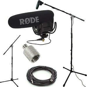 Rode videomic pro microphone studio boom kit boom stand adapter 25 39 cable ebay - Meubilair tv rode ...