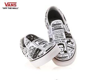 Vans-ASHLEY-WILLIAMS-X-Slip-On-Newspaper-Fashion-Sneakers-Shoes-Men-039-s