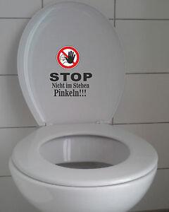 wc aufkleber stop nicht im stehen pinkeln toilette sitz bad klodeckel ebay. Black Bedroom Furniture Sets. Home Design Ideas