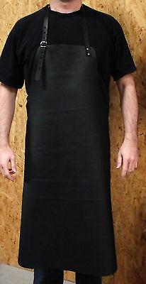 Schürze in schwarz - Lederschürze Kochschürze Bistroschürze Kellnerschürze Leder