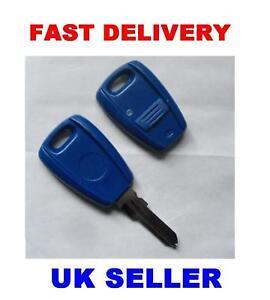 Fiat Punto Remote Key Fob Case Amp Blade Inc Logo New Ebay
