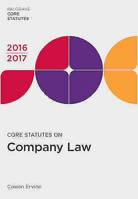 1 of 1 - Core Statutes on Company Law 2016-17 (Palgrave Core Statutes)-ExLibrary