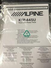/////ALPINE KTP-445U Head Unit Powerpack Owners Manual