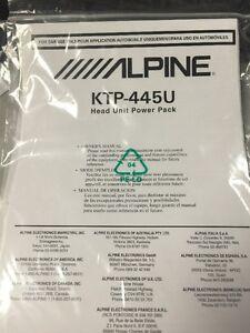 alpine ktp 445u head unit powerpack owners manual ebay rh ebay com 2012 Alpine Products Alpine Audio 2013