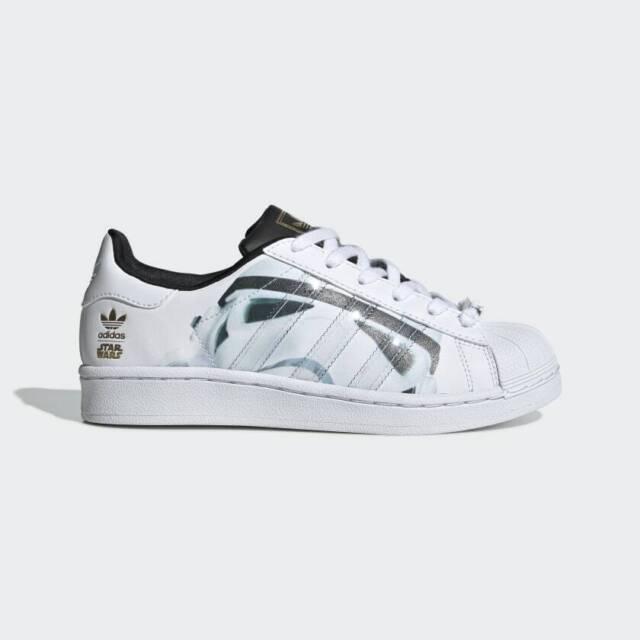 adidas Star Wars Superstar Stormtrooper J Shoes B23640 Size Us7 Uk6.6