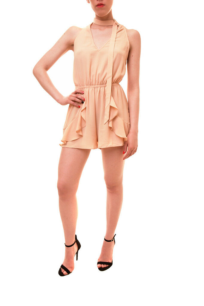 Finders Keepers Women's Auhtentic Curtis Playsuit Wheat S RRP  145 BCF85