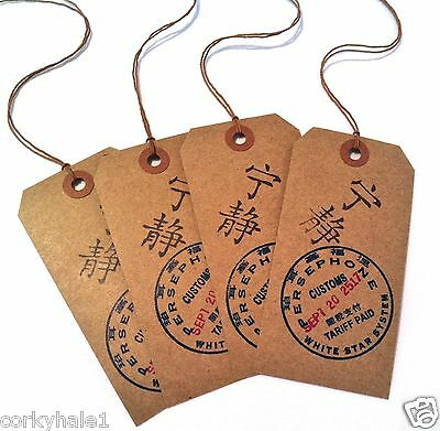 Firefly Serenity Inspired Persephone Customs Gift Tags set of Four (4)