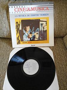 "Die Musica de Dimitri Tiomkin Soundtrack LP Vinyl 12 "" 1987 VG + Spain Ed"