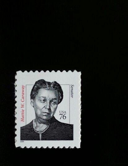 2001 76c Hattie W. Caraway, First Woman Senator, Arkans