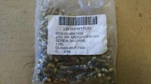 MS35207-263 PACKAGE OF 100 EA NOS MACHINE SCREW   P//N