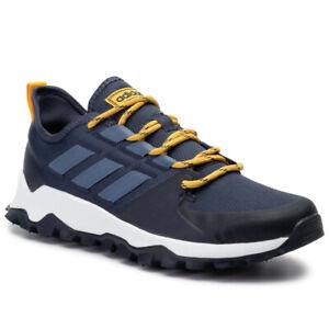 NUOVO-adidas-Kanadia-Trail-Uomo-Nero-Blu-Scarpe-Da-Ginnastica-Running-Trekking-Scarpe-Da-Trekking