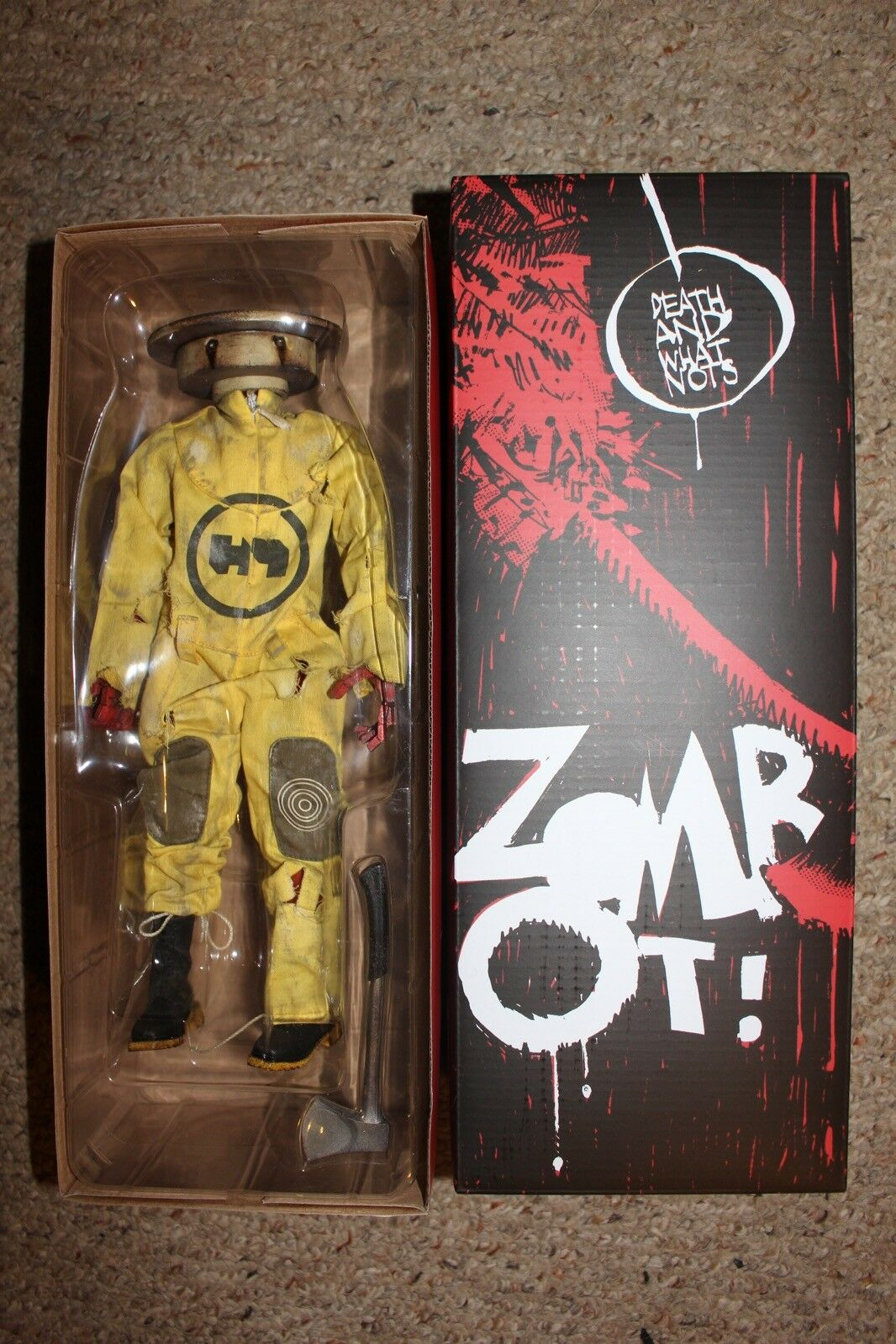 3A ThreeA Death And What Nots Zombot Figure Complete in Box  3 1/6
