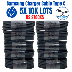 5X 10X Lot Fast Charging Cord For Samsung S8 S9  Charger Cable USB C Type C 4ft
