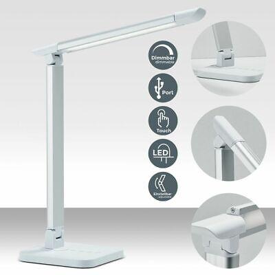 LED Tisch-Leuchte Schreibtisch-Lampe Büro dimmbar Touch Leselampe Leuchte USB uA