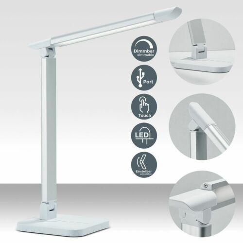 Schreibtisch-Lampe LED dimmbar Büro Tischleuchte Touch Kinder Leselampe USB 230V